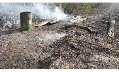 Сжигание мусора привело к пожарам