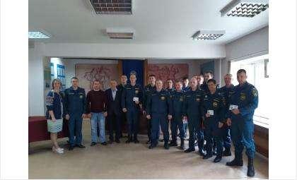 Знаки отличия ГТО получили 14 пожарных в Бердске