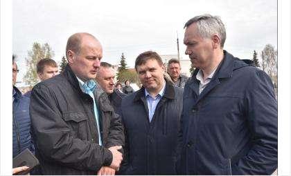 Андрей Травников посетил в селе Вагайцево дом, строящийся для для переселенцев