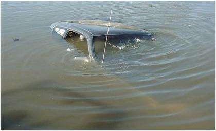 Водитель «Волги» утонул в кювете вместе с машиной