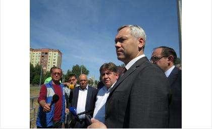 В целом Андрей Травников остался доволен ремонтом ул. Лунной