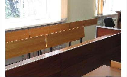 Зона для присяжных в зале Бердского городского суда