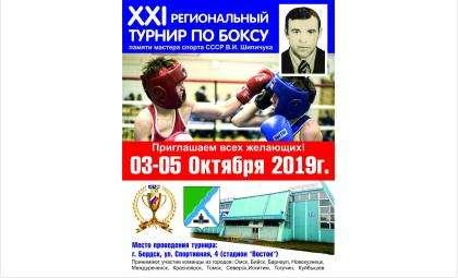 XXIрегиональный турнир по боксу памяти Владимира Шипичука пройдет в Бердске