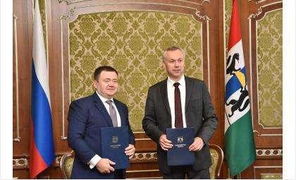 Губернатор Андрей Травников и председатель ПАО «Промсвязьбанк» Пётр Фрадков