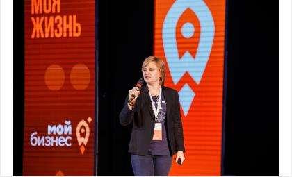 Участница форума, состоявшегося в Барнауле