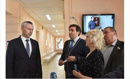 Губернатор Андрей Травников посетил Баганскую ЦРБ