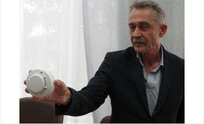 Начальник УГЗ Василий Пономарёв рассказал, как работает извещатель