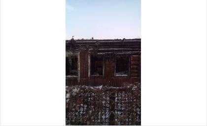 Дом сильно поврежден огнем