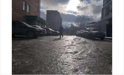 Из-за гололёда переломы получили трое жителей Бердска