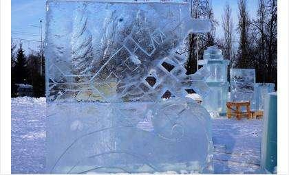 Ледяные фигуры смотрятся эстетичней, чем снежные