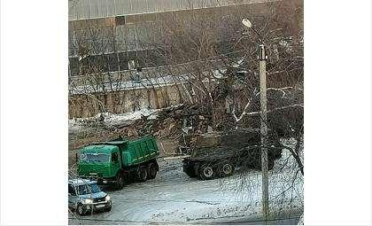 Баню на ул. Комсомольской уже снесли