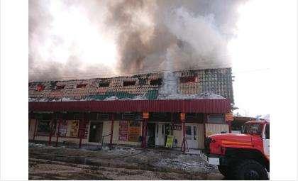 Пожар на рынке случился 8 января