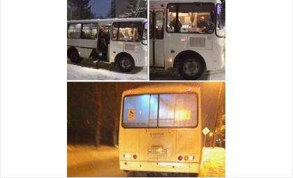 Конфликт разгорелся в автобусе №109 вечером 24 января - водитель выкинул пассажирку