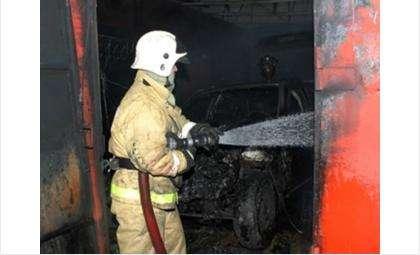 Пожар в частном гараже с.Криводановка