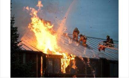 Огонь уничтожил дачный дом