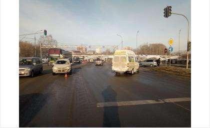 «Колорлоновская» маршрутка попала в ДТП в Бердске