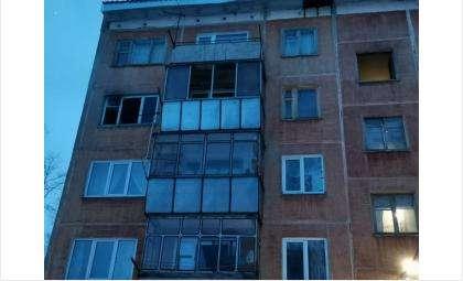 Пожар произошел на 4 этаже в 5-этажном доме
