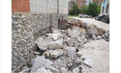 После ремонта отмостки дом на ул. Павлова, 4 ожидает благоустройство двора