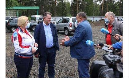 Председатель Заксобрания Андрей Шимкив в Сузунском районе