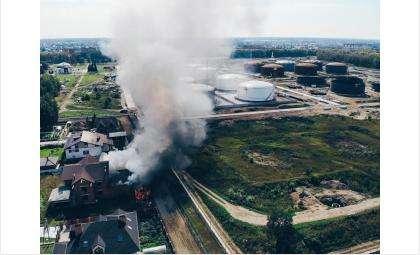 Пожар в элитном коттедже в Бердске