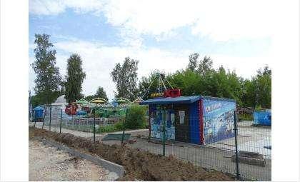 Аттракционы в парке Бердска пока не работают