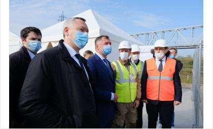 Заместитель председателя Правительства России посетил площадку строительства 4-го моста через Обь
