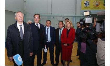Первые лица региона посетили искитимскую школу № 5 и детско-юношескую спортшколу