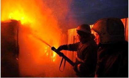 Пожар произошёл ночью