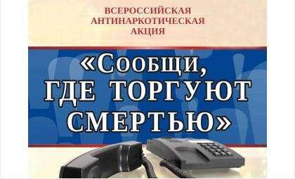 МВД Бердска объявило акцию «Сообщи, где торгуют смертью!»