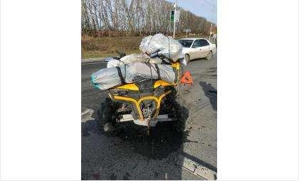 88-летний водитель квадроцикла пострадал в ДТП у ст. Евсино Искитимского района