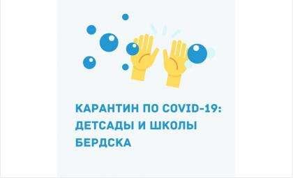 Ковид выявлен у 24 детей и 24 сотрудников школ и детсадов Бердска