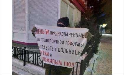 3 декабря активисты устроили серию одиночных пикетов против транспортной реформы