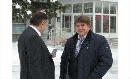 Спикер Заксобрания НСО Андрей Шимкив и мэр Бердска Евгений Шестернин в 2015 году