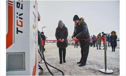 Электрозаправочная станция для автомобилей открыта в Искитиме