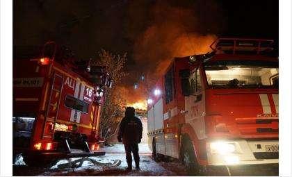 Пожар произошёл в Дзержинском районе Новосибирска