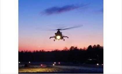 На предельно малых высотах летали над Новосибирской областью военные вертолеты