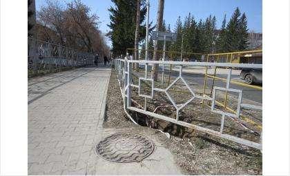Один из провалов на ул. Ленина