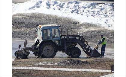 Идёт аварийный ремонт дорог