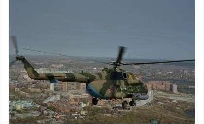 Над главной площадью Новосибирска прошла генеральная репетиция авиапарада