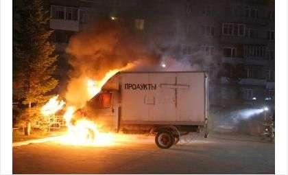 На Шлюзе ночью 9 мая горел продуктовый грузовик