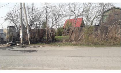 Сгорел забор и хозблок
