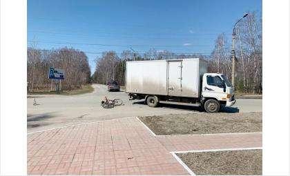Пострадал велосипедистпод колесами грузовика вБердске