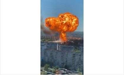 Огненный гриб было видно со всего города