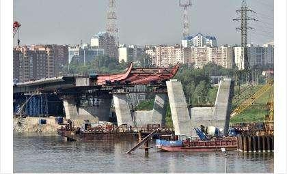 Строители четвертого моста в Новосибирске приступили к сооружению пилона в виде буквы «Н»