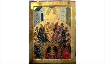 Сошествие Святого Духа на апостолов. Кирилло-Белозерский монастырь, 1497 г.