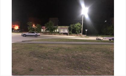 16-летний мотоциклист без прав на «Avantis A7» попал в ночное ДТП в Искитиме