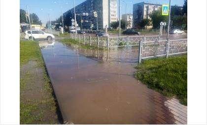 Большой участок оказался затоплен