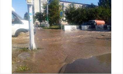 На ул. Космической в Бердске прорвало магистральный водопровод