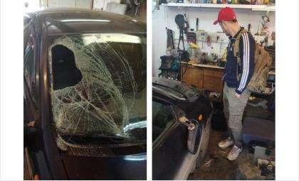 После ДТП мужчина скрылся и спрятал свою машину в гараже