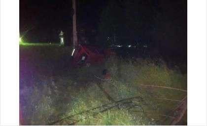 Врезался в опору ЛЭП и погиб водитель на новосибирской трассе Академгородок-Кольцово
